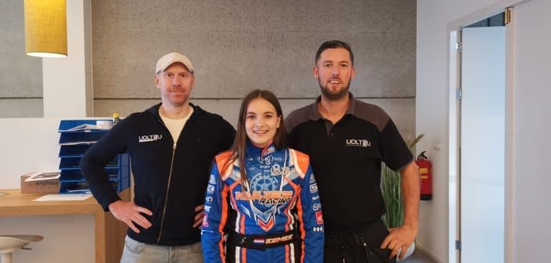 Volt4U sponsort Esmee Kosterman: KNAF Academy talent karten
